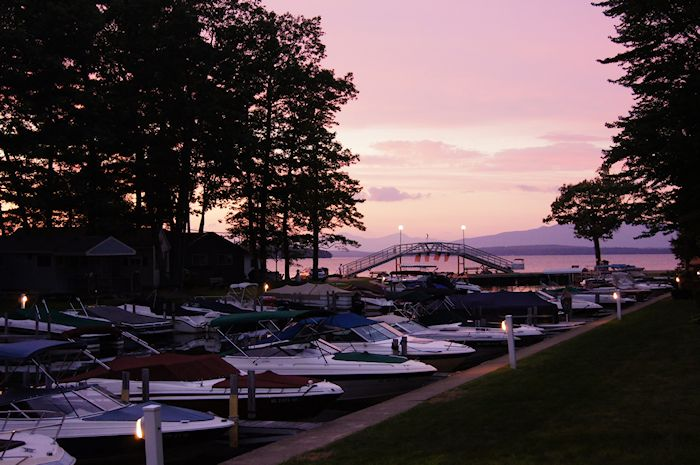nh sunset marina photo